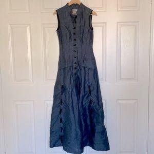 Midi linen dress from Annie Thompson, size xs